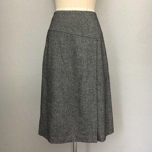 Talbots wool blend tweed career skirt